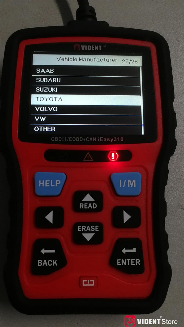 Scan Toyota Camry Using Vident Ieasy310 27