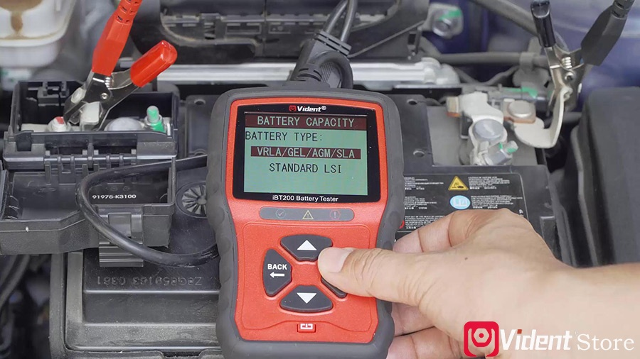 Use Vident Ibt200 9v 36v Battery Tester 07