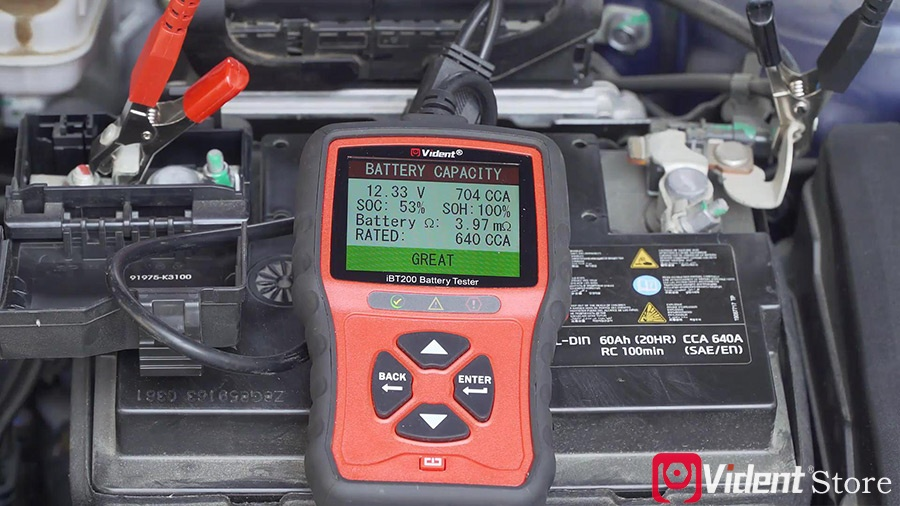 Use Vident Ibt200 9v 36v Battery Tester 09