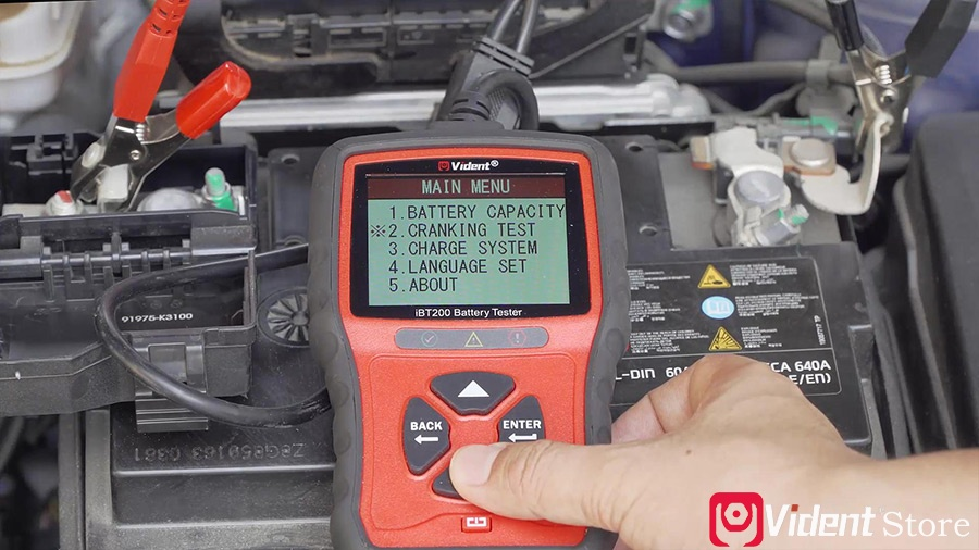 Use Vident Ibt200 9v 36v Battery Tester 10