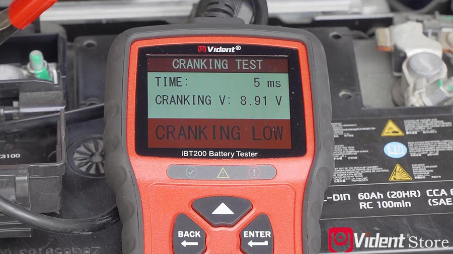 Use Vident Ibt200 9v 36v Battery Tester 16