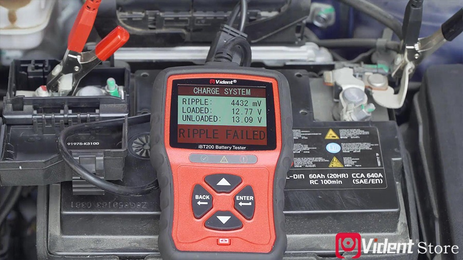 Use Vident Ibt200 9v 36v Battery Tester 21
