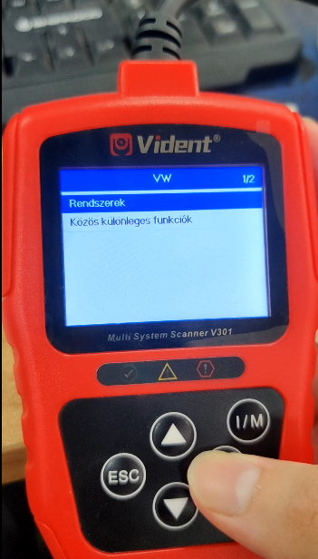 Change Vident V301 Language 5